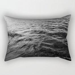 Ocean Wave   Black And White   Ocean   Sea   Beach   Landscape Photography   Waves Rectangular Pillow