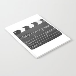 Film Movie Video production Clapper board Notebook
