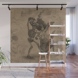 Dancing Mermaid and Skeleton Wall Mural