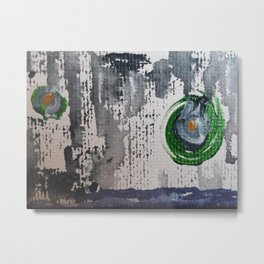 Art Therapy Blue Green Circles Metal Print