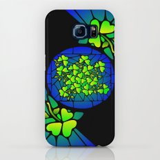 Stained Glass Shamrocks Galaxy S7 Slim Case