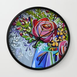 Graphic Floral 1 Wall Clock