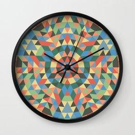 Triangle Kaleidoscope Mandala Wall Clock