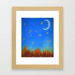 Firefly Field Framed Art Print