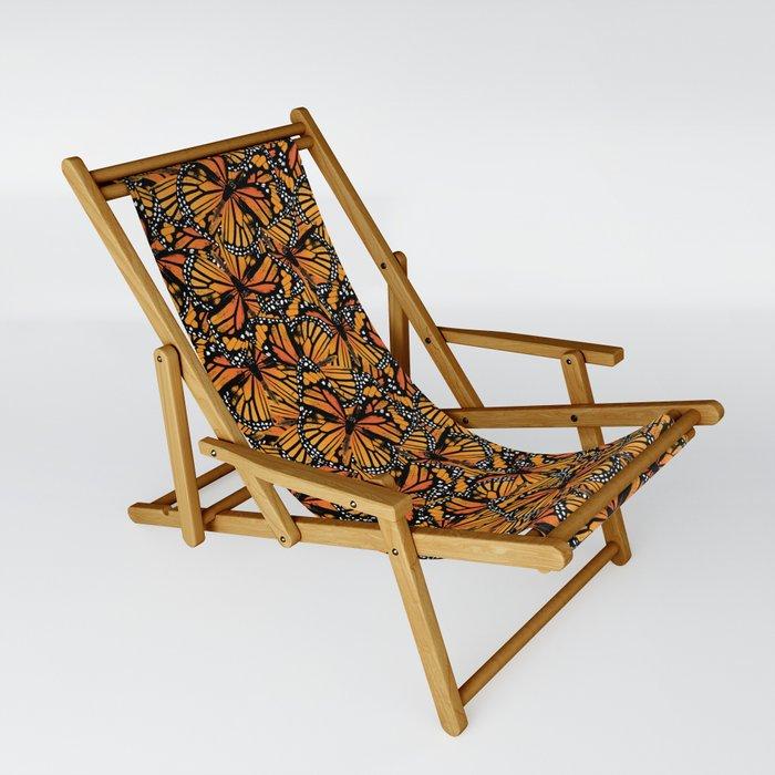 Monarch Butterflies Pattern   Butterfly Pattern   Sling Chair