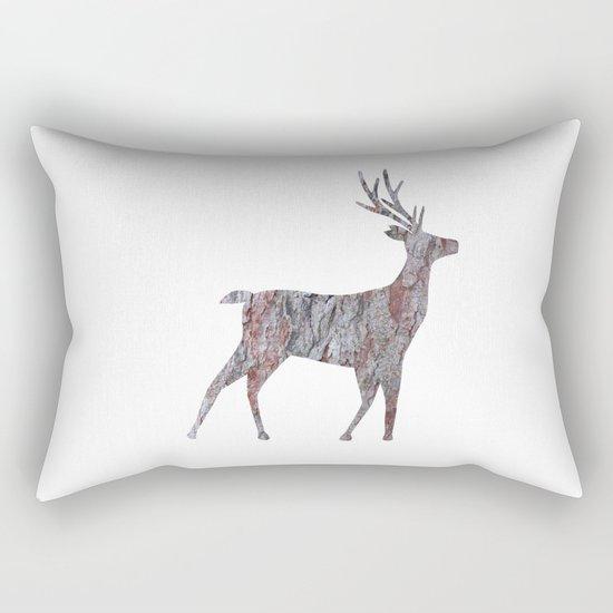 deer silhouette stag pine bark Rectangular Pillow