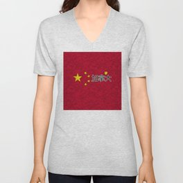 China flag Unisex V-Neck