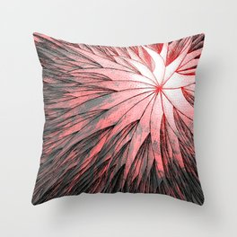 Abstract Flower2 Throw Pillow