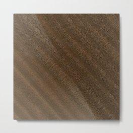 Sapele Wood Metal Print