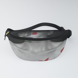 Woman portrait red green Fanny Pack