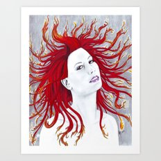 Rhapsody in Flames Art Print