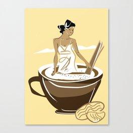 vanilla cafe2 Canvas Print