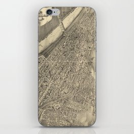 Vintage Pictorial Map of Wilkes-Barre PA (1889) iPhone Skin