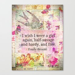 Emily Bronte quote about freedom Canvas Print