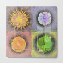 Stibiated In Dishabille Flower  ID:16165-125308-23431 Metal Print