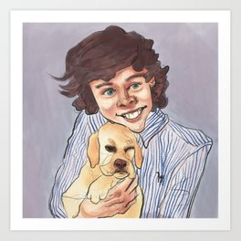 Young Harry with a Puppy Art Print
