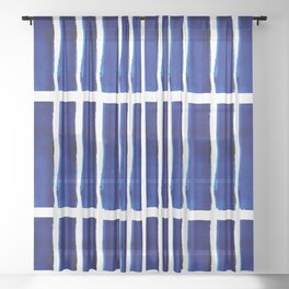 Shibori Stripes Sheer Curtain
