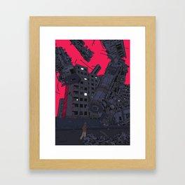 Fallen Train Framed Art Print