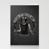 daryl dixon Stationery Cards featuring Daryl Dixon by Blanca Limón