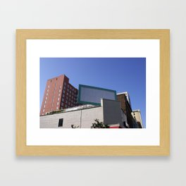 Blank Advertisement Framed Art Print