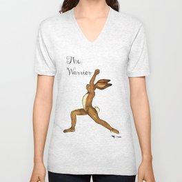 Hansel the Hare doing Yoga Unisex V-Neck