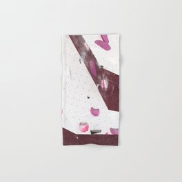 Geometric abstract free climbing bouldering holds pink purple Hand & Bath Towel
