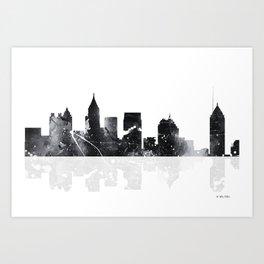 Atlanta, Georgia Skyline BG Art Print