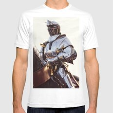 Knight In Shining Armour MEDIUM White Mens Fitted Tee