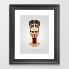 Polygon Heroes - Nefertiti Framed Art Print