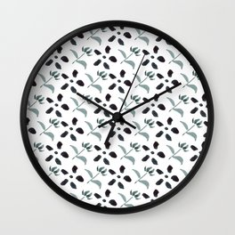 Little Frowers ( Pattern Paynes Grey) Wall Clock