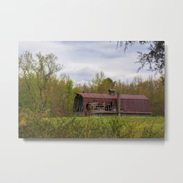 Red Roof Barn Metal Print