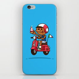 Italy! Pinocchio Eat Pizza and Ride Vespa iPhone Skin