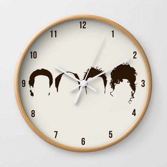 Seinfeld Hair Wall Clock