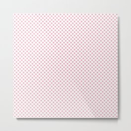 Orchid Pink Polka Dots Metal Print