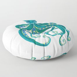 Watercolor Octopus Floor Pillow
