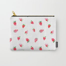 Baby strawberries    watercolor Carry-All Pouch