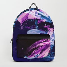 Blue and Magenta Abstract Wisps Backpack