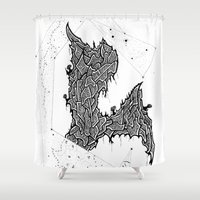 constellations Shower Curtains featuring Constellations by Mason Misener