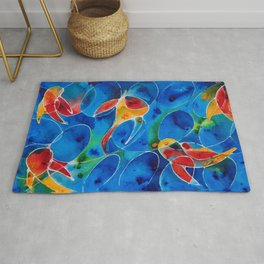 Koi Pond 2 - Liquid Fish Love Art Rug