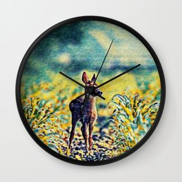 Lost Fawn Of The Dreamworld | Painting Wall Clock