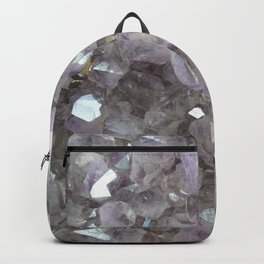 Sparkling Clear Light Purple Amethyst Crystal Stone Backpack