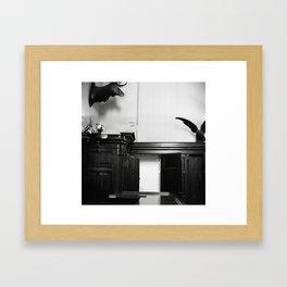Watch Your Back_ Framed Art Print
