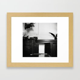 Watch Your Back_ Framed Art Print
