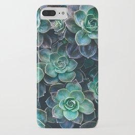 Succulent Blue Green Plants iPhone Case