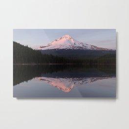 Sunset at Trillium Lake Metal Print
