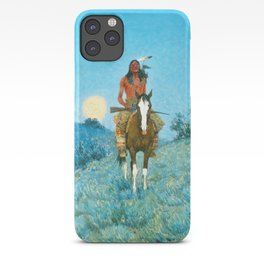 Frederic Remington - The Outlier, 1909 iPhone Case
