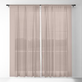 Light Coffee Brown Solid Color Pairs with Sherwin Williams Heart 2020 Color Redend Point SW 9081 Sheer Curtain
