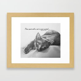 Time with a Cat Framed Art Print