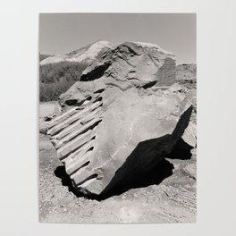 Dynamite Rock Quarry Boulder Oregon Landscape Sepia Geology Geomtric Rock Poster