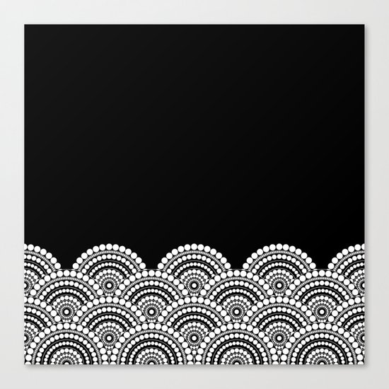 BLACK AND WHITE (abstract pattern) Canvas Print